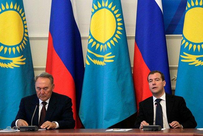 Н. Назарбаев и В. Путин
